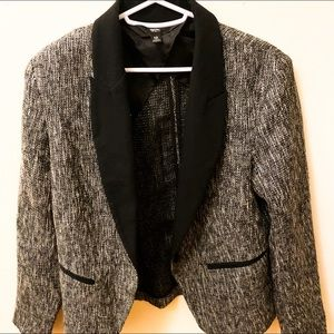 Mossimo Gray Tweed Blazer with Metallic Accent S12